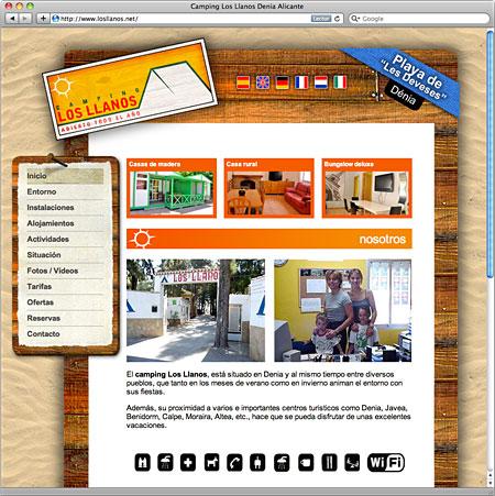 Diseño Web Camping